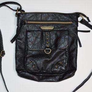 Stone Mountain USA Black Faux Leather Purse